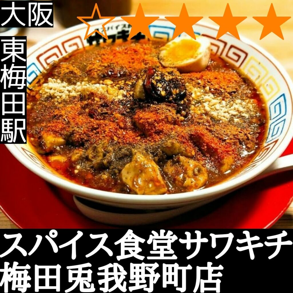 スパイス食堂サワキチ 梅田兎我野町店(東梅田駅・麻婆麺,カレー)
