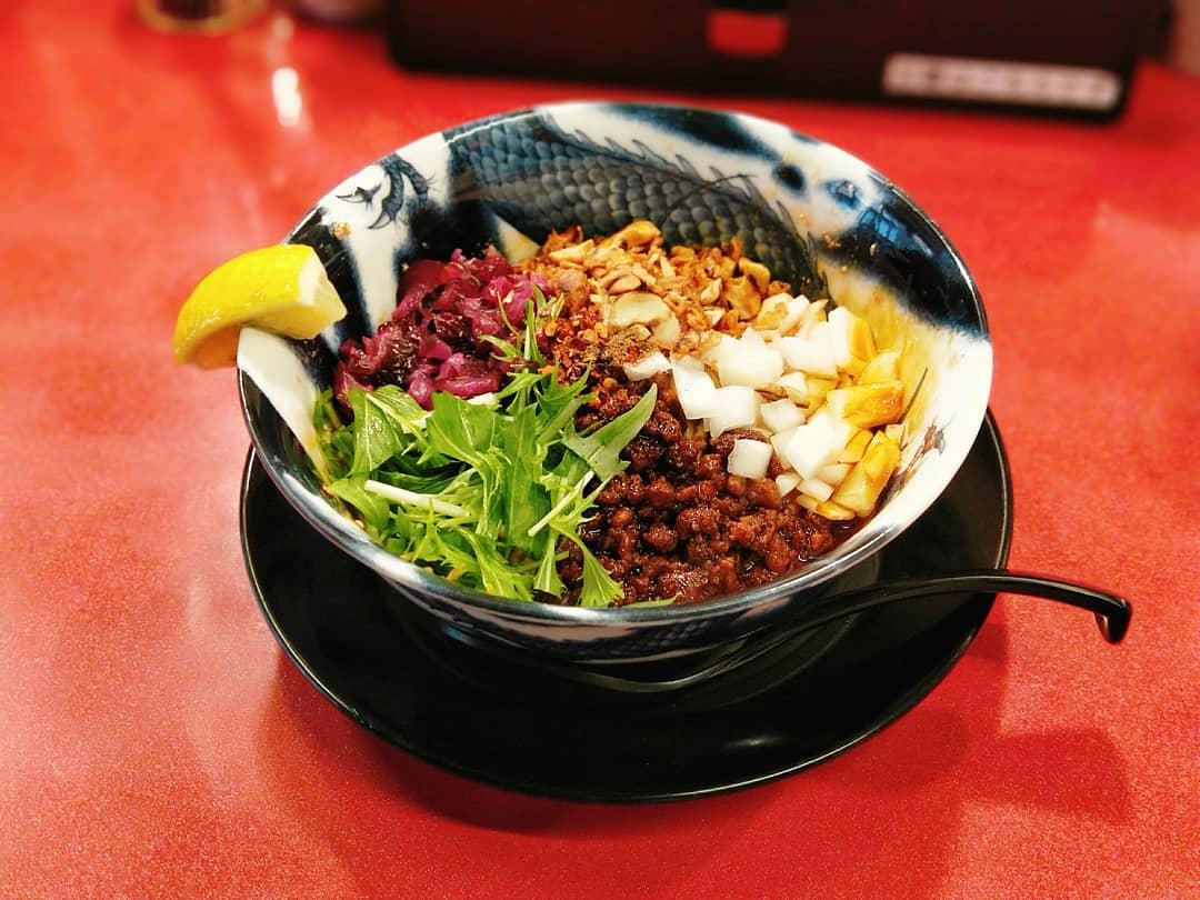 スパイス担担麺専門店 香辛薬麺(福島駅・汁なし担々麺)