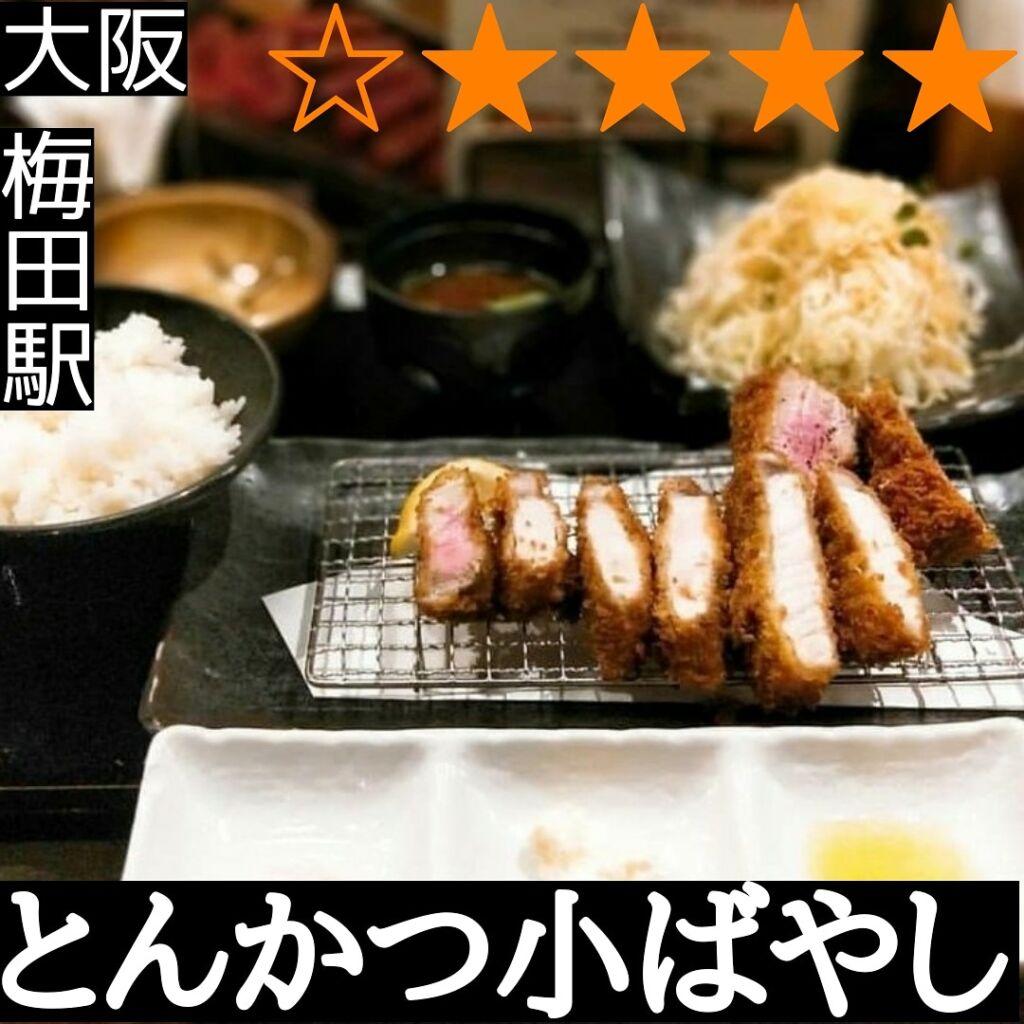 とんかつ小ばやし(梅田駅・とんかつ)